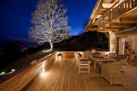 balcony lighting ideas. Deck Lighting Ideas Porch Eclectic With Balcony Bench Chalet Exterior. Image By: MCM Designstudio S