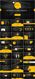Powerpoint Backgrounds Yellow 28 Yellow Black Business Report Powerpoint Templates