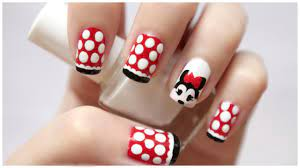 Disney Minnie Mouse Nail Art!