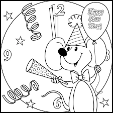 New Year Coloring Pages For Kids at GetDrawings.com   Free for ...