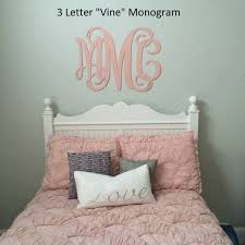 large wooden monogram wall hanging painted initials photo prop ymsje 246291