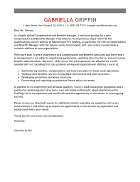 best compensation and benefits cover letter examples livecareer compensation and benefits advice