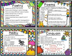 Types Of Poetry Anchor Chart 2nd Grade Language Arts Posters 2nd Grade Anchor Charts
