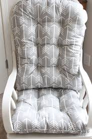 glider or rocking chair cushions in fabrics you choose are a great finishing touch to the