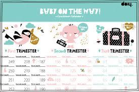 Pregnacy Clander A Cute Pregnancy Countdown Calendar For Mums To Be