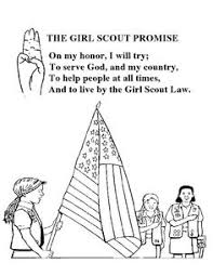 Girl Scout Promise Coloring Sheet Gs Promise Pinterest Girl