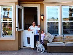 doggie door installation you will also need to consider the walkway so that the swing does doggie door installation