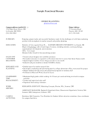 Resume Functional Format Example Functional Format Resume Template Free Sample Pdf Resumes For 2