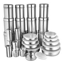 zain stainless steel storage containers 30 pcs steel containers home18