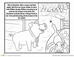 Small Picture Charlottes Web Worksheet Educationcom
