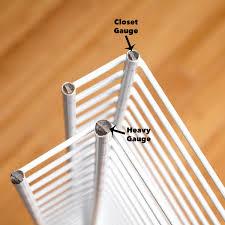 closet gauge vs heavy gauge wire shelves