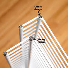 closet gauge vs heavy gauge wire shelves
