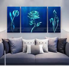 china wall art blue rose modern