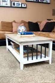 farm house coffee table diy