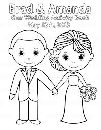 Printable Kids Printable Personalized Wedding Coloring Activity Book Favor Kids 8 5
