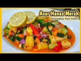See more ideas about pickles, recipes, chutney. Resep Acar Nanas Merah Pelengkap Nasi Kebuli Youtube
