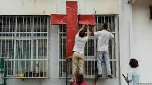 police and authorities in henan china raided a church at the break of