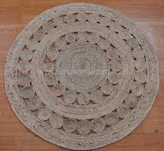 hand woven braided natural jute rug