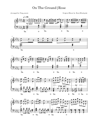 On The Ground - Rosé | Piano solo by Fong_music Sheet music for Piano  (Solo)