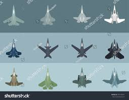Futuristic Fighter Jet Designs Twelve Modern Futuristic Jet Fighter Aircraft Stock Vector