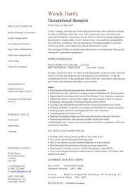 Occupational Therapist Cv Sample Medical Job Description Cv
