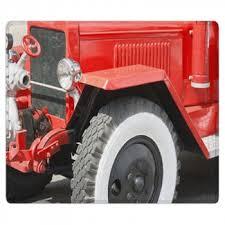 red vintage fire area rug