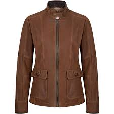 waterproof biker leather jacket for women