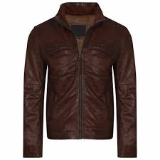 brown leather leather jacket leather jacket for men biker leather jacket