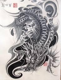 Dragon Koi More тату карп тату татуировки и эскиз тату