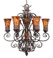 metropolitan lighting n6516 468 salamanca 6 light cattera bronze chandelier