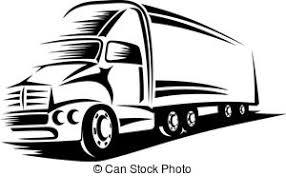 大きいトラックベクタークリップアートイラスト6121 大きいトラック