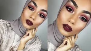 burgundy new years eve makeup tutorial