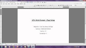 Apa Format Page Setup Apa Format Page Setup Youtube