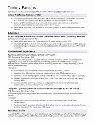 Network Administrator Resume Sample Lovely Database Administrator