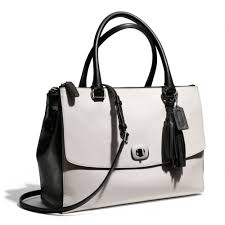 Lyst - Coach Legacy Large Harper Satchel in Two Tone Leather in White