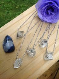 herkimer diamond necklace large