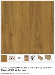 lifeproof essential oak 7 1 in x 47 6 in luxury vinyl plank flooring for in glendale az offerup