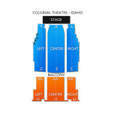 Colonial Theater Seating Chart Colonial Theatre Idaho 2019 Seating Chart