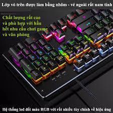 Bàn phím cơ YINDIAO ZK-4, 104 phím cơ tiêu chuẩn (LED rainbow, Blue Switch)