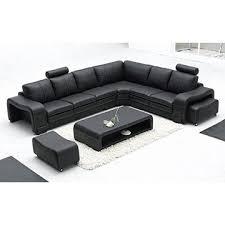 Black Color L Shape Leather Corner Sofa for Furniture Al330 Global