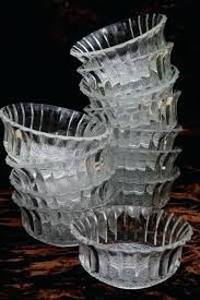 glass dessert dishes new old stock pressed glass dessert dishes escapade forever crystal clear glass bowls