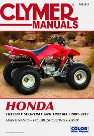 honda trx250 sportrax series atv 2001 2012 service repair manual