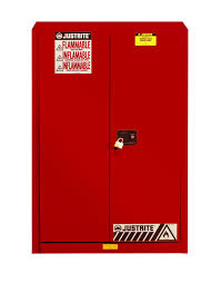sure grip ex flammable safety cabinet 45 gallon 2 manual close doors red