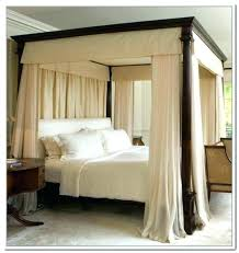 Canopy Bed Drapes Curtains Around Bed Canopy Bed Blackout Curtains ...