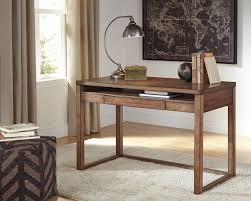 long desks for home office. Baybrin - Rustic Brown Home Office Small Desk Long Desks For E
