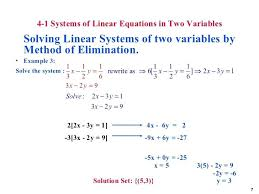 solve linear equation by elimination math 7 4 1 systems of linear equations math solver website