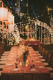 lighting decoration for wedding. Romantic String Lights Decor For A Pink And Gold Wedding Lighting Decoration P