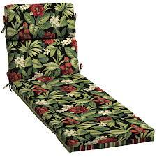 garden treasures 1 piece sanibel black tropical patio chaise lounge chair cushion