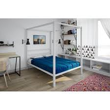 DHP Modern Canopy Bed, White, Multiple Sizes - Full - Walmart.com