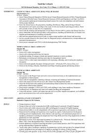 Clinical Research Coordinator Resume Sample Clinical Resume Magdalene Project Org